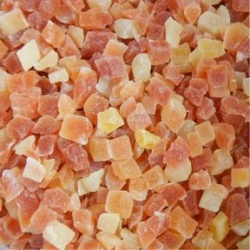 Papaya Diced Dried Unsulfured