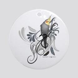 Gray Cockatiel Ornament H-87